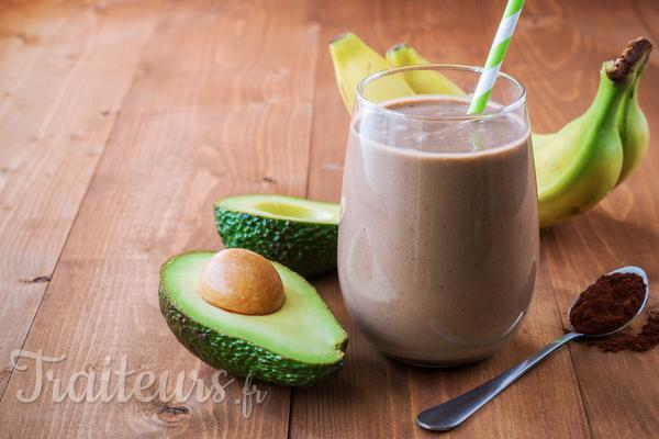Mon smoothie bien-être : avocat cacao